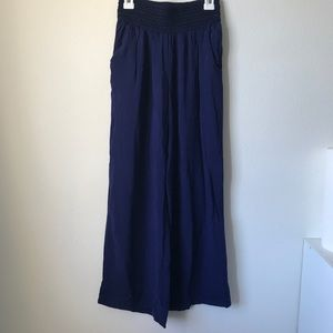 Joe B Navy Blue Wide Leg Pants
